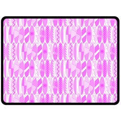 Bright Pink Colored Waikiki Surfboards  Fleece Blanket (large)  by PodArtist