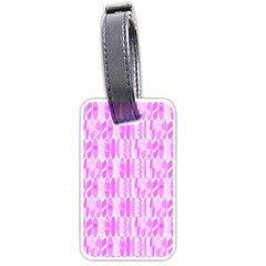 Bright Pink Colored Waikiki Surfboards  Luggage Tags (two Sides) by PodArtist