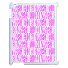 Bright Pink Colored Waikiki Surfboards  Apple Ipad 2 Case (white) by PodArtist