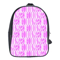 Bright Pink Colored Waikiki Surfboards  School Bag (xl) by PodArtist