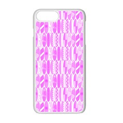 Bright Pink Colored Waikiki Surfboards  Apple Iphone 7 Plus Seamless Case (white) by PodArtist