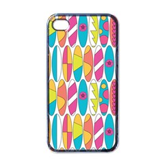 Mini Rainbow Colored Waikiki Surfboards  Apple Iphone 4 Case (black) by PodArtist