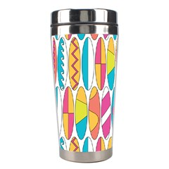 Mini Rainbow Colored Waikiki Surfboards  Stainless Steel Travel Tumblers by PodArtist