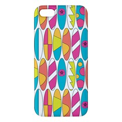 Mini Rainbow Colored Waikiki Surfboards  Iphone 5s/ Se Premium Hardshell Case by PodArtist