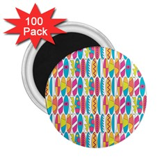 Rainbow Colored Waikiki Surfboards  2 25  Magnets (100 Pack)  by PodArtist