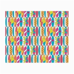 Rainbow Colored Waikiki Surfboards  Small Glasses Cloth (2 Side) by PodArtist