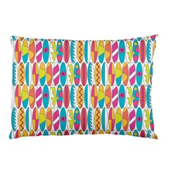 Rainbow Colored Waikiki Surfboards  Pillow Case by PodArtist