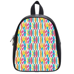 Rainbow Colored Waikiki Surfboards  School Bag (small) by PodArtist