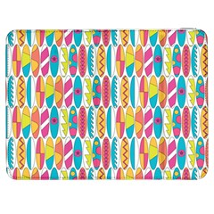 Rainbow Colored Waikiki Surfboards  Samsung Galaxy Tab 7  P1000 Flip Case by PodArtist