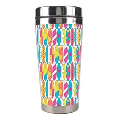 Rainbow Colored Waikiki Surfboards  Stainless Steel Travel Tumblers by PodArtist