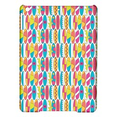 Rainbow Colored Waikiki Surfboards  Ipad Air Hardshell Cases by PodArtist