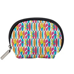Rainbow Colored Waikiki Surfboards  Accessory Pouch (small) by PodArtist