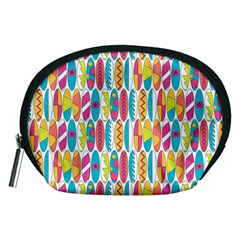 Rainbow Colored Waikiki Surfboards  Accessory Pouch (medium) by PodArtist