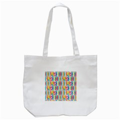 Rainbow Colored Waikiki Surfboards  Tote Bag (white) by PodArtist