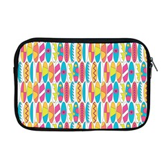 Rainbow Colored Waikiki Surfboards  Apple Macbook Pro 17  Zipper Case by PodArtist