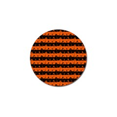 Orange And Black Spooky Halloween Nightmare Stripes Golf Ball Marker (10 Pack) by PodArtist