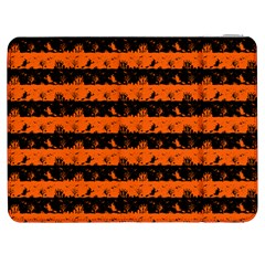 Orange And Black Spooky Halloween Nightmare Stripes Samsung Galaxy Tab 7  P1000 Flip Case