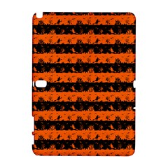 Orange And Black Spooky Halloween Nightmare Stripes Samsung Galaxy Note 10 1 (p600) Hardshell Case by PodArtist