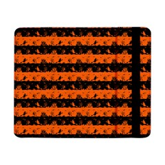 Orange And Black Spooky Halloween Nightmare Stripes Samsung Galaxy Tab Pro 8 4  Flip Case by PodArtist