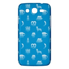 Oktoberfest Bavarian October Beer Festival Motifs In Bavarian Blue Samsung Galaxy Mega 5 8 I9152 Hardshell Case