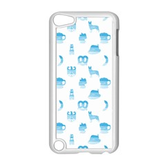 Oktoberfest Bavarian October Beer Festival Motifs In Bavarian Blue Apple Ipod Touch 5 Case (white) by PodArtist