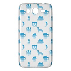 Oktoberfest Bavarian October Beer Festival Motifs In Bavarian Blue Samsung Galaxy Mega 5 8 I9152 Hardshell Case  by PodArtist