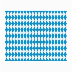 Oktoberfest Bavarian Blue And White Large Diagonal Diamond Pattern Small Glasses Cloth by PodArtist