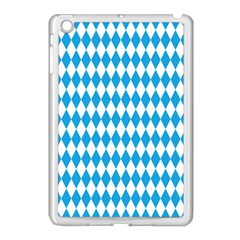 Oktoberfest Bavarian Blue And White Large Diagonal Diamond Pattern Apple Ipad Mini Case (white) by PodArtist