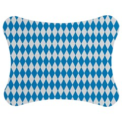 Oktoberfest Bavarian Blue And White Large Diagonal Diamond Pattern Jigsaw Puzzle Photo Stand (bow) by PodArtist