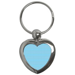 Oktoberfest Bavarian Blue And White Small Diagonal Diamond Pattern Key Chains (heart)
