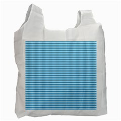 Oktoberfest Bavarian Blue And White Small Diagonal Diamond Pattern Recycle Bag (one Side) by PodArtist