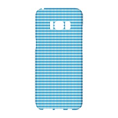 Oktoberfest Bavarian Blue And White Small Diagonal Diamond Pattern Samsung Galaxy S8 Hardshell Case  by PodArtist