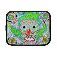 Cosmic Owl Netbook Case (small) by chellerayartisans