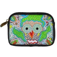 Cosmic Owl Digital Camera Leather Case by chellerayartisans