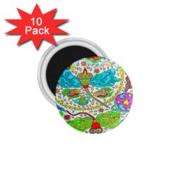 Cosmic Dragonflies 1 75  Magnets (10 Pack)