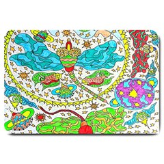 Cosmic Dragonflies Large Doormat