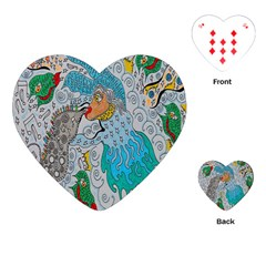 Music Angel Playing Cards (heart) by chellerayartisans