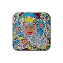 Cosmic Moon Angel Rubber Coaster (square)