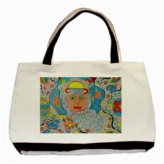 Cosmic Moon Angel Basic Tote Bag (two Sides)