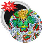 Cosmic Coocoobird 3  Magnets (100 pack) Front