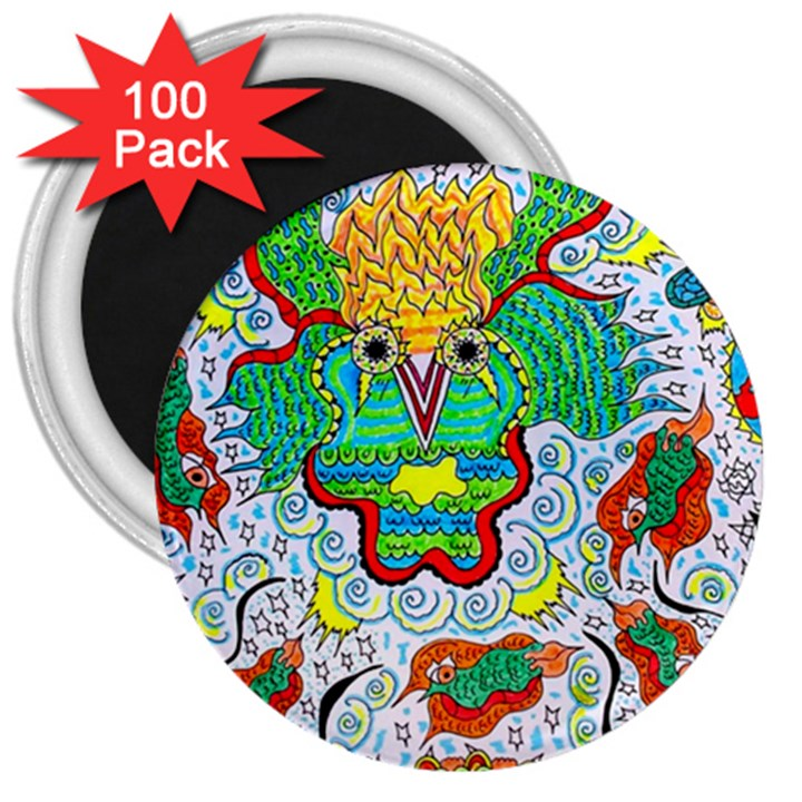 Cosmic Coocoobird 3  Magnets (100 pack)