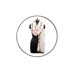 Indiahandycrfats Women Fashion White Dupatta With Multicolour Pompom All Four Sides For Girls/women Hat Clip Ball Marker by Indianhandycrafts