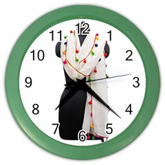 Indiahandycrfats Women Fashion White Dupatta With Multicolour Pompom All Four Sides For Girls/women Color Wall Clock by Indianhandycrafts