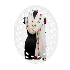 Indiahandycrfats Women Fashion White Dupatta With Multicolour Pompom All Four Sides For Girls/women Oval Filigree Ornament (two Sides) by Indianhandycrafts