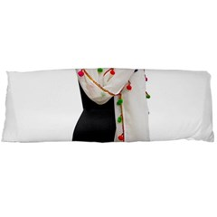 Indiahandycrfats Women Fashion White Dupatta With Multicolour Pompom All Four Sides For Girls/women Body Pillow Case (dakimakura) by Indianhandycrafts