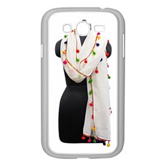 Indiahandycrfats Women Fashion White Dupatta With Multicolour Pompom All Four Sides For Girls/women Samsung Galaxy Grand Duos I9082 Case (white) by Indianhandycrafts