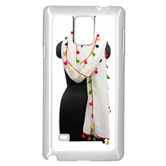Indiahandycrfats Women Fashion White Dupatta With Multicolour Pompom All Four Sides For Girls/women Samsung Galaxy Note 4 Case (white) by Indianhandycrafts