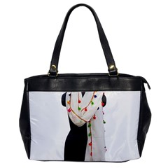 Indiahandycrfats Women Fashion White Dupatta With Multicolour Pompom All Four Sides For Girls/women Oversize Office Handbag by Indianhandycrafts