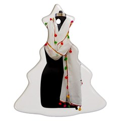 Indiahandycrfats Women Fashion White Dupatta With Multicolour Pompom All Four Sides For Girls/women Christmas Tree Ornament (two Sides) by Indianhandycrafts