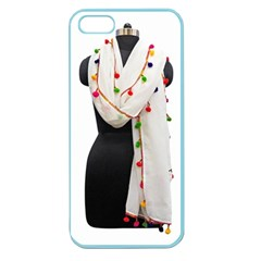 Indiahandycrfats Women Fashion White Dupatta With Multicolour Pompom All Four Sides For Girls/women Apple Seamless Iphone 5 Case (color) by Indianhandycrafts